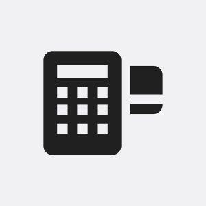 Credit card machine icon illustration